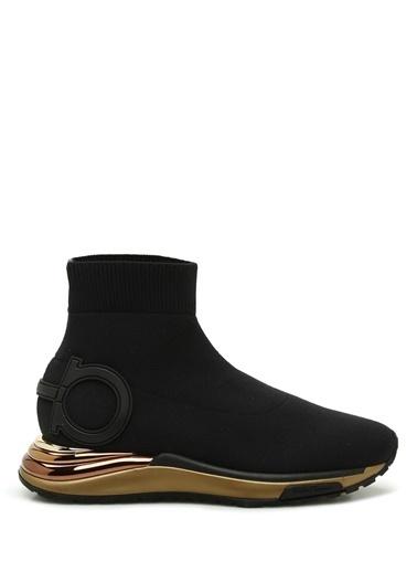 Salvatore Ferragamo Salvatore Ferragamo   Logo Detaylı Çorap Formlu Kadın Sneaker 101646881 Siyah